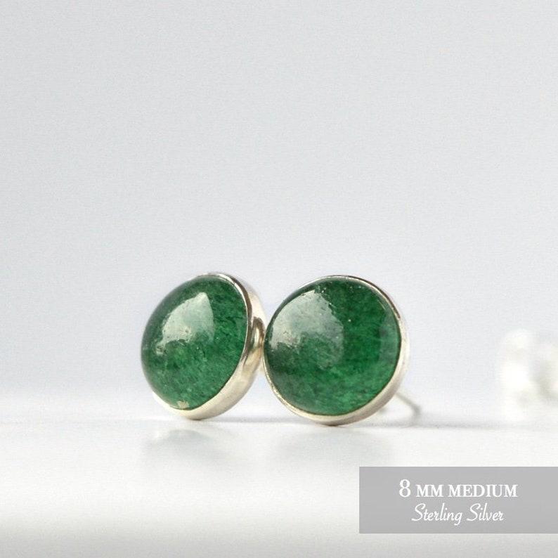f81bb0e02 Green Aventurine Earrings Natural Emerald Green Aventurine | Etsy
