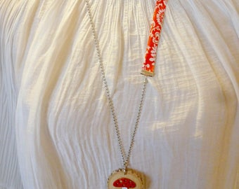 RIKA from red mushroom woodland necklace