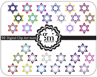... star of David - Vector star of David with floral decorations