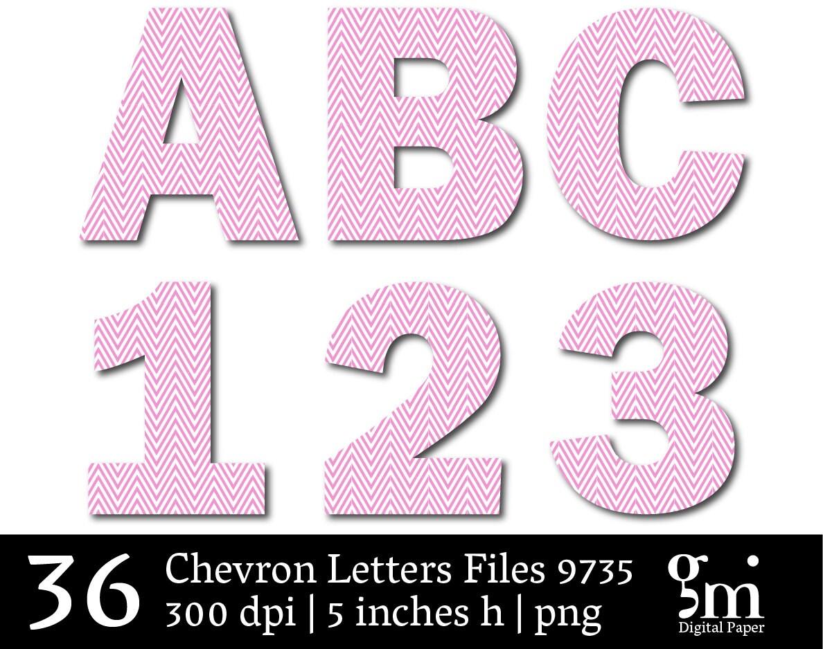 Chevron Letters Chevron Alphabet Alphabet Letters ABC | Etsy