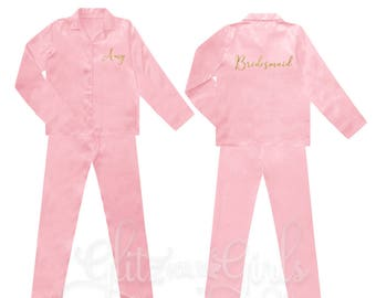 e63cfcbc93 Satin Bridal Party Pyjamas