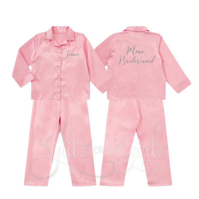 9d1640a07a Flower Girl Pyjamas Mini Bridesmaid Pyjamas Bridesmaid