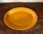 Fiestaware Marigold Large Oval Platter P86 Contemporary 13.5 quot Retired Fiesta Yellow