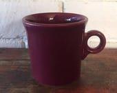 Fiestaware Cinnabar Coffee Mug Ring Handle Maroon Red Retired Fiesta - 4 Available