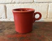Fiestaware Paprika Orange Coffee Mug Ring Handle Retired Fiesta Rusty -4 Ava