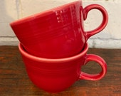 Fiestaware Scarlet Red Tea Cup Contemporary Fiesta - 2 available