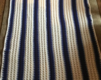 Cable stitch afghan