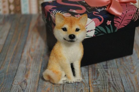 Shiba Shiba inu Shiba dogShiba pin Dog brooche Hatiko Felting