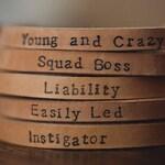 Personalised, adjustable Leather Bracelet