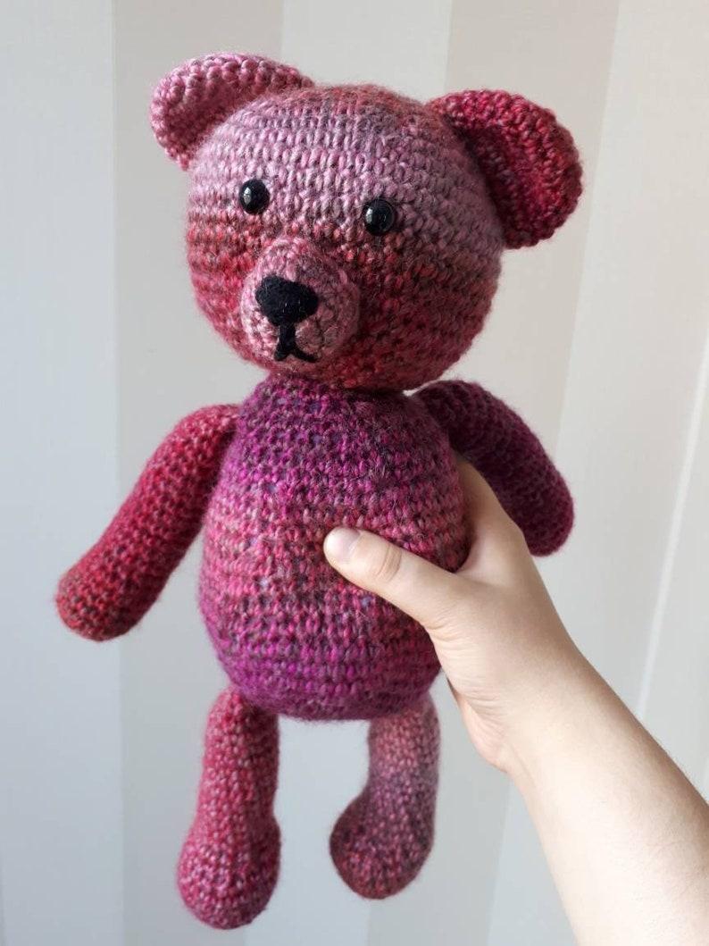 Bernat Velvet Valentine Crochet Bear | Yarnspirations | 1059x794