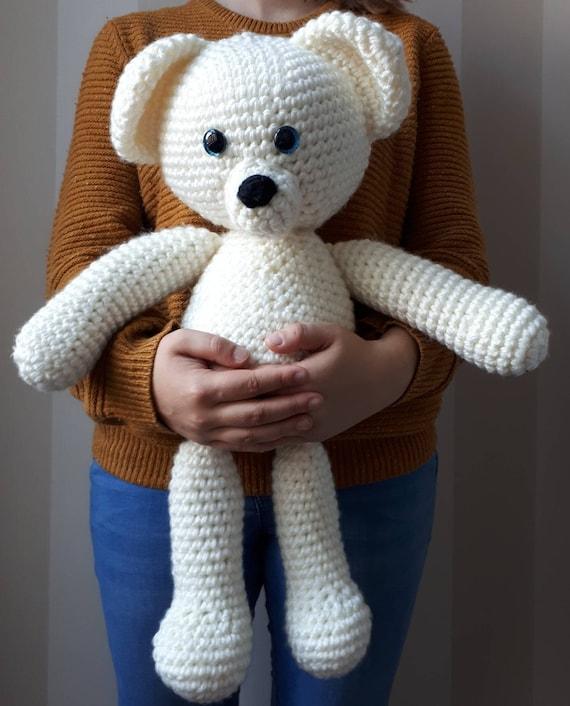 Crochet Teddy Bear - Free Pattern! - Leelee Knits | 706x570