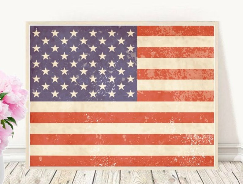 photo about Printable Us Flag named Printable Artwork, Typical US Flag, Innovative Wall Artwork, American Flag Print, Immediate Obtain, Residence Decor, Electronic Print