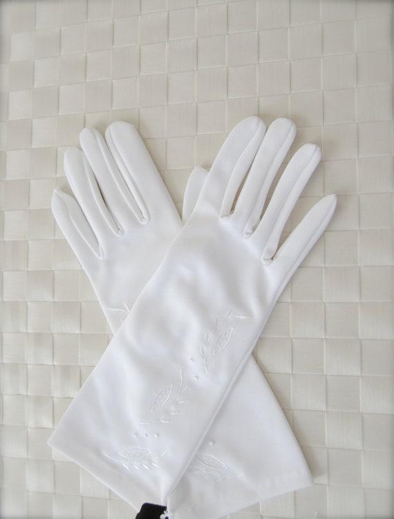 Vintage White Gloves, Women's Gloves, Wedding Glov