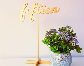Freestanding Gold Table Numbers. Wedding Numbers.