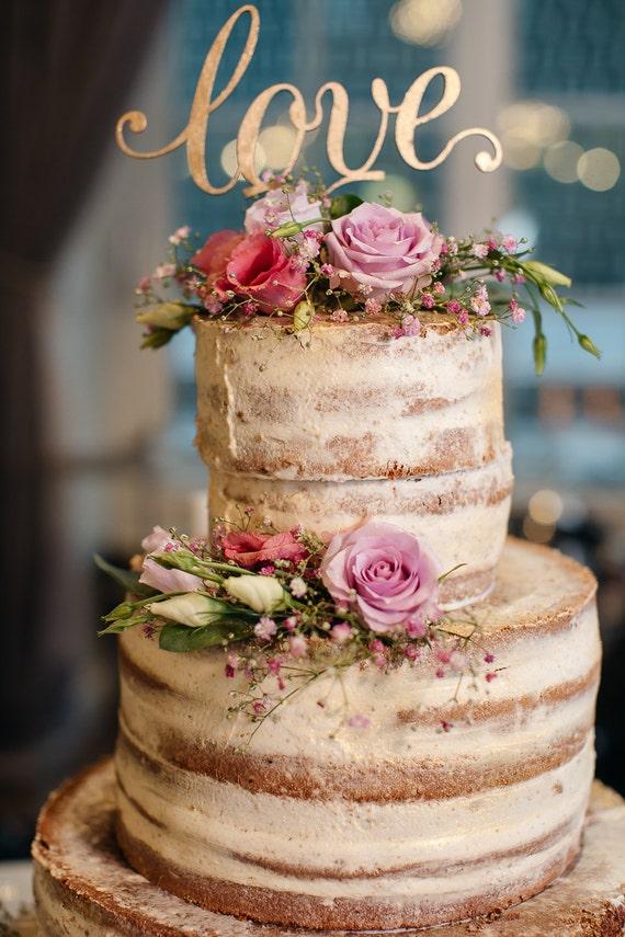 Liebe Cake Topper Gold Cake Topper Goldene Hochzeit Etsy