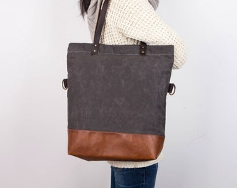 Waxed canvas tote bag  f865e48b29da4