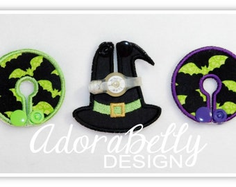 Bats and Hat Halloween Tubie Covers (Gtube Pads) Witch