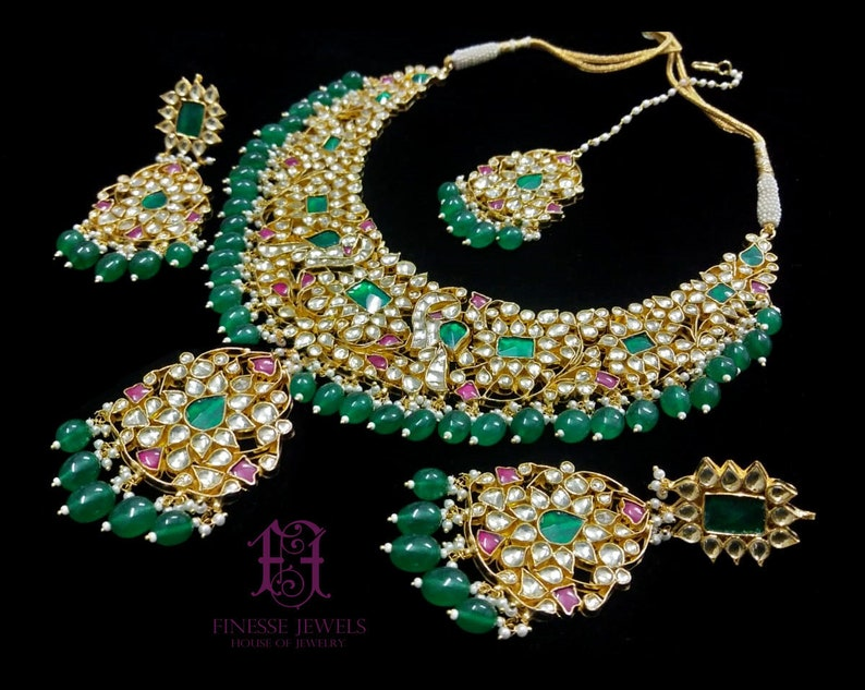 Sabyasachi Indian Jewelryheavy Indian Bridal Jewelry Set With Etsy