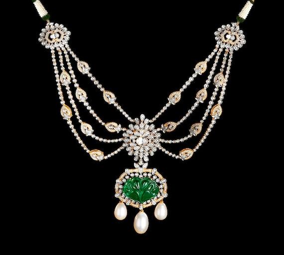 Cz Necklace Cz Jewelry Set Bridal Jewelry Indian Jewelry Etsy