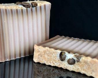 Coffee Soap, Cappuccino Soap Coffee Beans, Homemade Soap, Handmade Soap