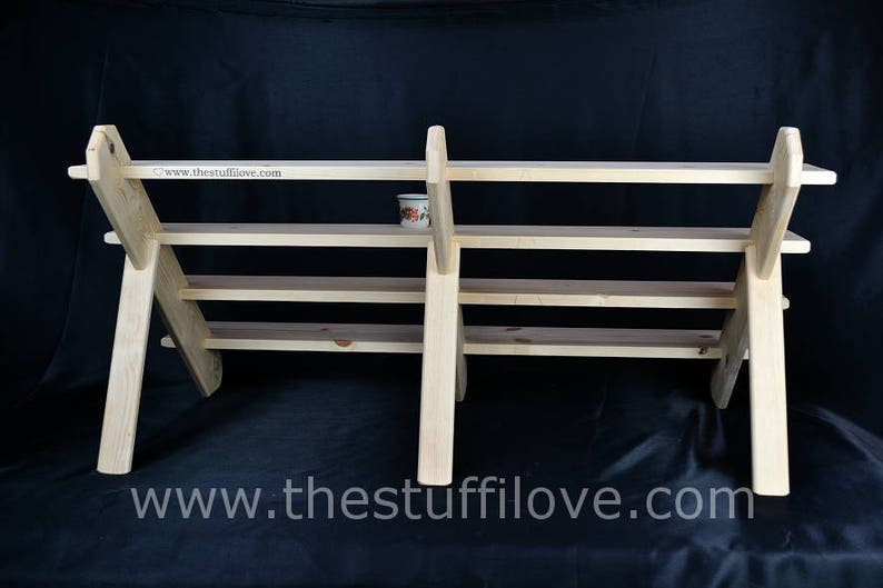 100cm39.5 Collapsible Display StandShelves For Craft And Trade Shows Or Shops. 4 Shelf 1 Meter Wide