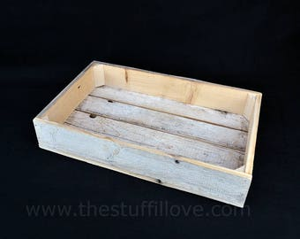 Shallow Slatted Wooden Crates or Trays