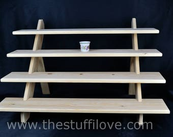 4 Shelf 75cm Wide Collapsible Display Stand/Shelves For Craft And Trade Shows Or Shops.