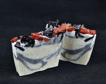 Chocolate Soap Slice, Made with Cocoa Butter, Natural Oils, Handmade Vegan Soap, Homemade Soap, Natural Soap, Chocolate Fragrance