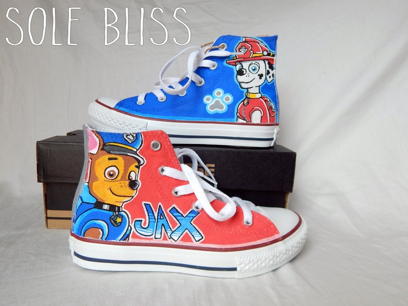 68cfd6801079cc Paw Patrol Hand Painted Shoes Paw Patrol Party Custom