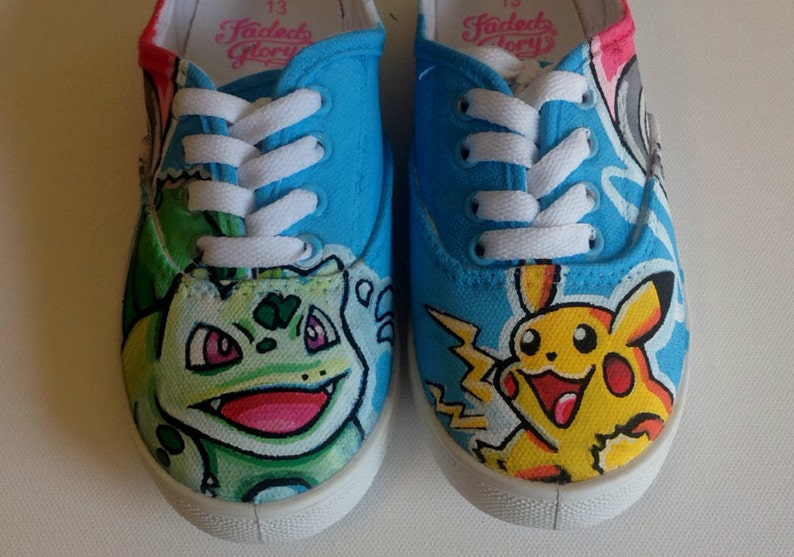 674f528a9be4e2 Pokemon Hand Painted Shoes Custom Vans  Converse  Toms