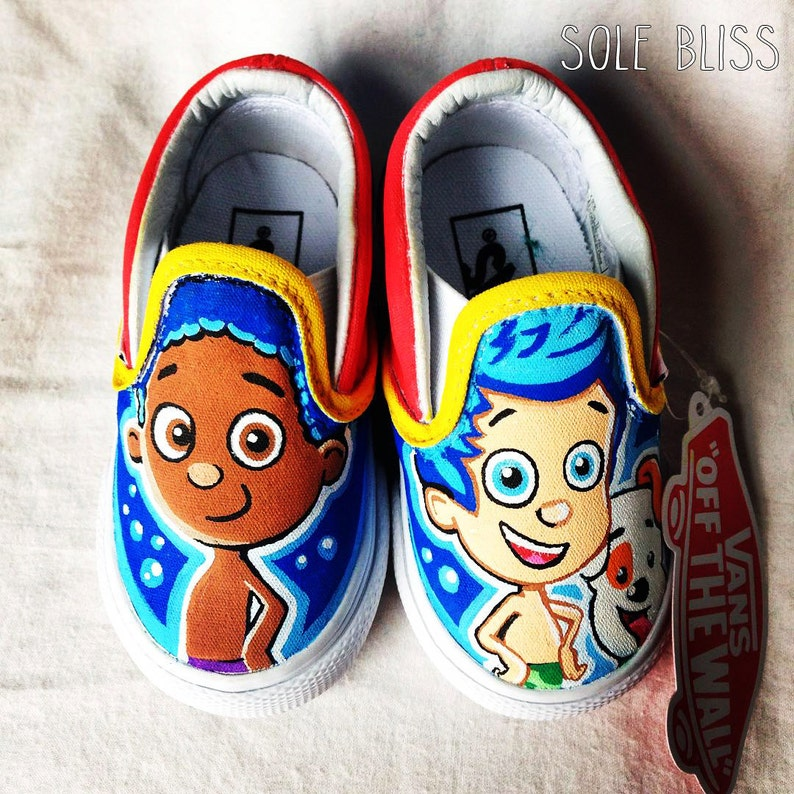 d7f62f86da1f70 Bubble Guppies Shoes Painted Infant Children s Vans