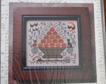 October 31st Halloween Folk Art Primitive Kathy Barrick Cross Stitch Pattern