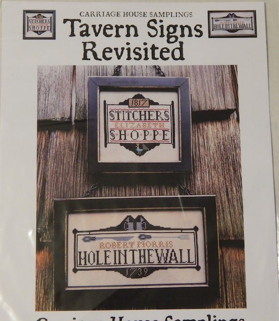 2 Designs Tavern Signs Revisited Cross Stitch Chart