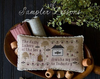 Serial Bowl Collection Of Sampler Lessons:  Lesson Three by Plum Street Samplers
