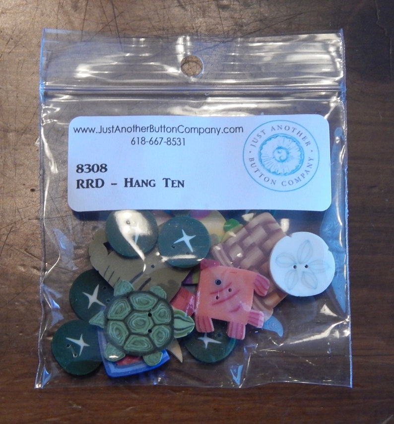 Hang Ten by Raise the Roof Button Pack