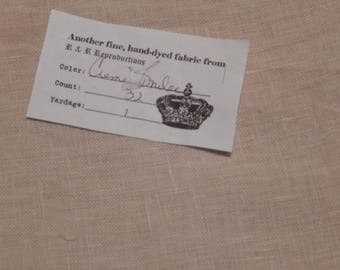 R&R Reproductions 32 count Creme Brûlée linen (1/8th yard pricing)