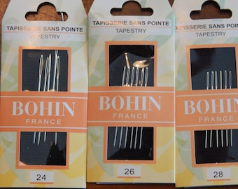Bohin Tapestry Needles (24, 26, or 28)