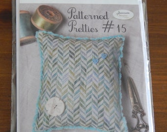 Patterned Pretties #15 by Jeannette Douglas Designs - includes flosses and wool felt