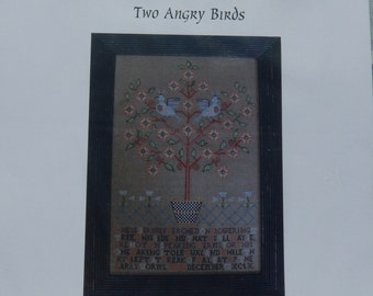 Shakespeare's Peddler Two Angry Birds Reproduction Sampler Chart