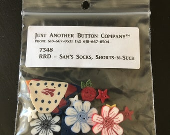 Button Pack for Sam's Socks, Shorts-n-Such