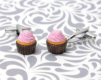 ON SALE Cupcake Dessert Sweet Gift Cufflinks