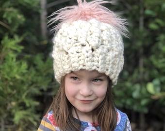 f67c6496854 Super Chunky Pom Hat For Toddler