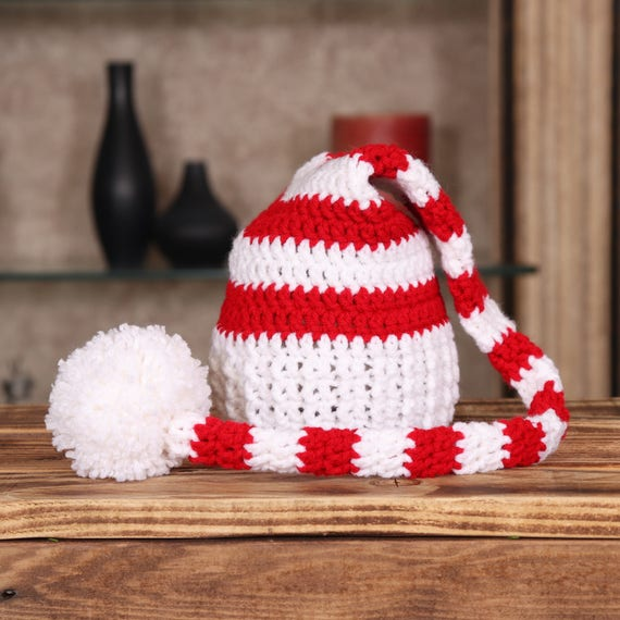 98d558163 Newborn Santa Hat, Christmas Photo Props, Elf Hat, Baby Christmas Hat,  Winter Baby Shower, Babys 1st Christmas Gifts, Baby Stocking Hat
