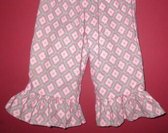 Handmade Girl Ruffled Pants - Pinkie - Size 12 month