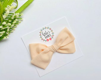 Black and White handtied hairbow nylon headband Kate/'s Bows hair clip bow fall bows Fall Collection