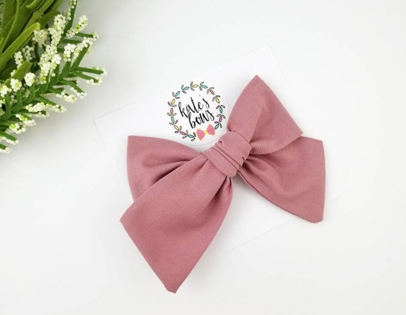 2 X 3.5 INCH BLACK BOW TIE STYLE HAIR BOW WITH ALIGATOR CLIP PERFECT GIFT UK
