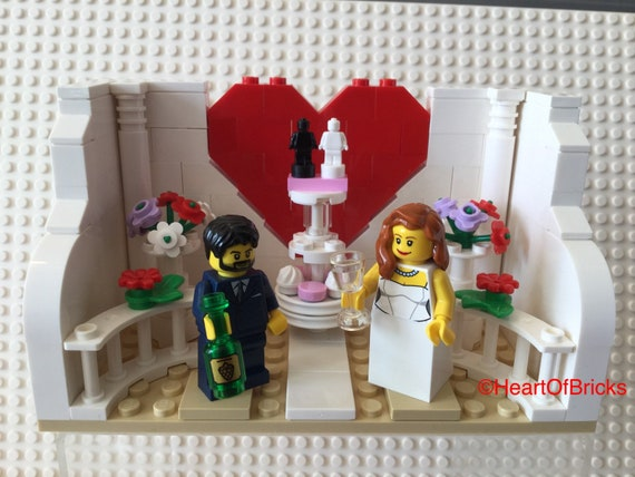 Hochzeitstorte Topper Geschenk Braut Und Brautigam Minifiguren Etsy
