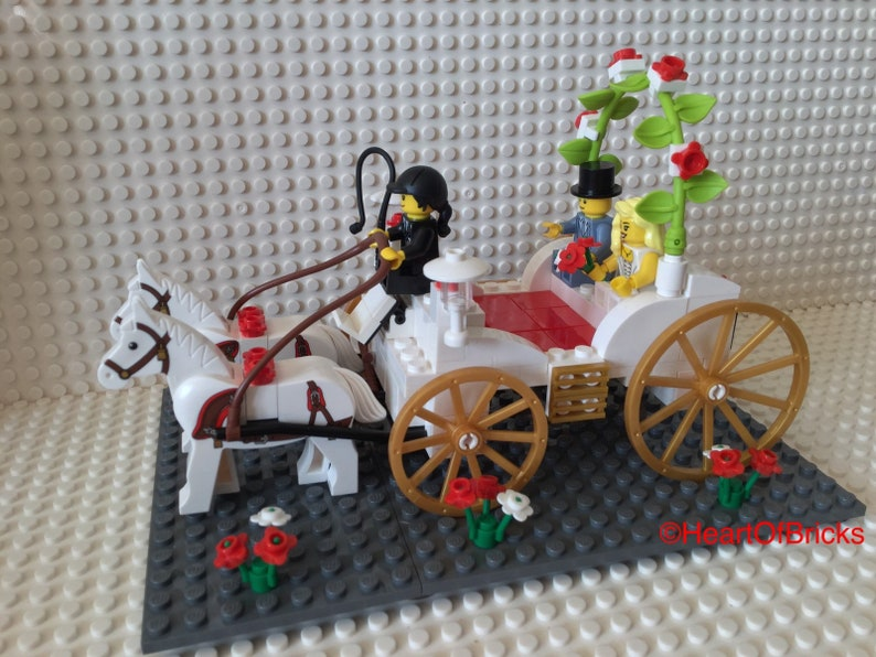 Wedding Cake Topper Display Horse And Carriage Customised To Order