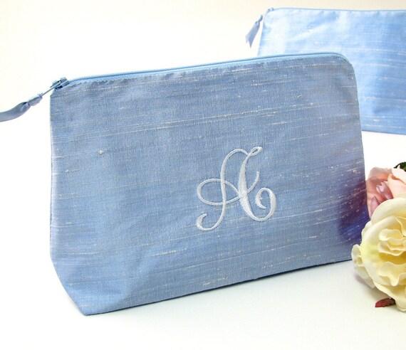 Monogrammed Cosmetic Bag    Silk Travel Bag Silk Clutch     8a4996645b878