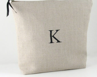 Personalized Linen Travel Lingerie Bag, Monogram Lingerie Bag for Underwear, Lingerie Travel Bag, Lingerie Organizer, Shoe Bag for Travel